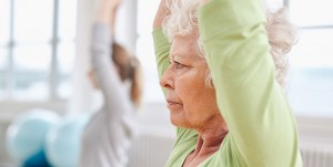 Older person exercising